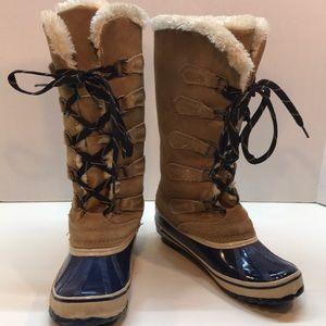 Sporto Waterproof & Suede Fur Trim Boots Size 7